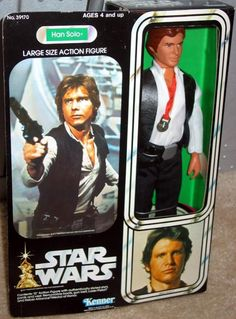 KENNER: 1977 Star Wars Han Solo Large Size Action Figure