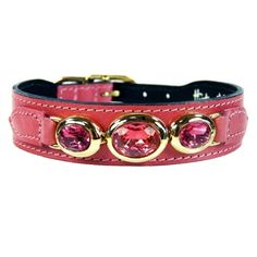 Buy NWT Hartman & Rose Luxury Pet Cat or Dog Italian Leather Collars Gold at online store Luxury Dog Collars, Pink Dog Collars, Designer Dog Collars, Leather Dog Collars, Pet Collars, Dog Items, Collar And Leash, Dog Design, Italian Leather