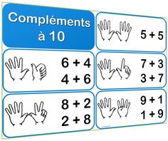 Affiches sur les compléments à 10 Math 2, 1st Grade Math, Write Arabic, Making Ten, Medical Anatomy, French Lessons, Teaching French, Math For Kids, Numeracy