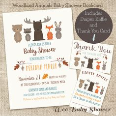 Woodland Animal Baby Shower Invitation by WeeBabyShower on Etsy