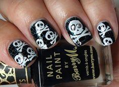 croc! Love Nails, Pretty Nails, My Nails, Nail Polish Designs, Nail Designs, Pirate Nails, Solar Nails, Skull Nails, Girly Things