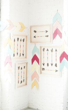 glitter & rye...inspiration-- XL hanging chevron garlands | DESIGNLOVEFEST