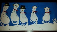 footprint snowmen