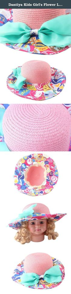 Dantiya Kids Girl's Flower Large Brim Bow Straw Beach Sun Hats (Pink). Material: paper straw. 100% Brand New And High Quality. Hat Circumference:51cm-53cm, 20.07 inch-20.86 inch. A simple straw hat fit with any summer trappings, neutral style, charming. Any product problems, please free to ask us.