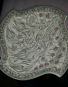 Tile Murals, Tile Art, Turkish Design, Pattern Art, Projects To Try, Pottery, Plates, Turkish Art, Ceramica