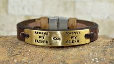 Mens Bracelet Leather Bracelet Personalized Men by PukkaMen