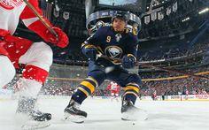 Download wallpapers Evander Kane, 4k, hockey players, Buffalo Sabres, NHL, hockey