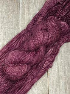 purple green blue Garden Stroll Indie Dyed Yarn on Merino Yak  Nylon sock fingering