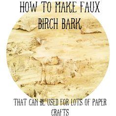 ..Twigg studios: how to make faux birch bark