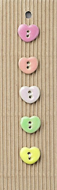 cute idea for carding  L192 small pastel hearts