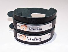 Mom's Personalized Leather Cuff Bracelet - Mother's Bracelet - Personalized - Your Choice of Words - Hand Stamped - Children's Names