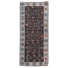View this item and discover similar for sale at - Lovely European kilim with a folksy, whimsical design and great colors. Rugs On Carpet, Carpets, Moldova, Romania, Folk Art, Whimsical, Weaving, Textiles, Magic