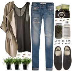 this is love by carlasousa1997 on Polyvore featuring Enza Costa, Abercrombie & Fitch, Vans, LSA International and Nikon