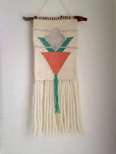 Carrot Top: Hand Woven Wall Hanging, Woven Tapestry by MadeByKeriP on Etsy