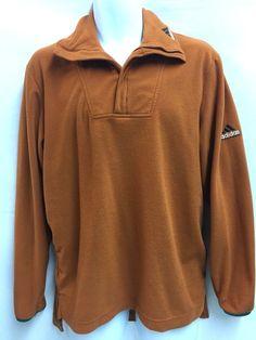 Adidas Equipment D6 Mens Vintage Fleece Pullover 1/4 Zip Neck Top M Orange #Adidas #FleecePullover