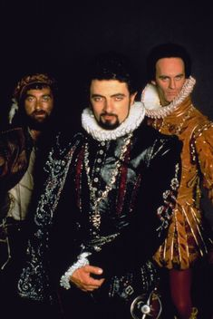 Blackadder and friends - because a) that's a fabulous doublet, and b) any outfit that can make Rowan Atkinson look sexy deserves an award!