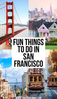 Fun Things To do In San Francisco California USA San Francisco travel tips what to do in San Francisco easy San Francisco Itinerary tips for visiting San Francisco must see in San Francisco Visiter San Francisco, Baie De San Francisco, Usa San Francisco, San Francisco California, San Francisco Must See, San Francisco Travel Guide, San Francisco Vacation, Weekend In San Francisco, California Vacation