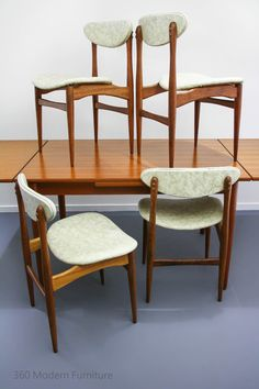 Mid Century Chiswell Dining Table & Chairs x 6 Teak Vintage Retro ...