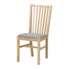IKEA - NORRNÄS, Chair, Solid birch is a durable natural material.You sit comfortably thanks to the high shaped back.Padded seat for increased sitting comfort.