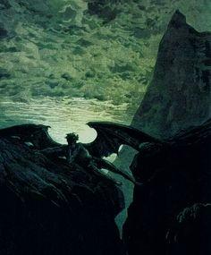 Satana riposa sulla montagna - Opera di Gustave Doré