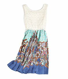 929dc60958 GB Girls 716 Lace 2fer Dress  Dillards