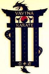 Karate Belt Display: Martial Arts Belt Display: Personalized Belt Rack