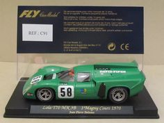 Vintage FLY C91 LOLA T70 MK 3B 1 Magny Cours 1980 #58 David Piper 1:32 Slot Car