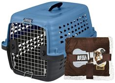 Petmate Compass Fashion Kennel   Blanket - Blue - 24 inch ** Discover this special dog product, click the image : Dog kennels