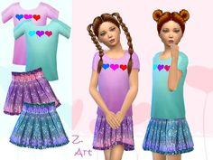 Girlie Set by Zuckerschnute20 at TSR via Sims 4 Updates