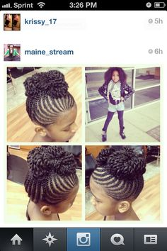 Cute hair style for a little naturalista