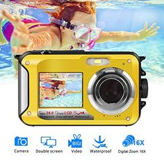Underwater Camera Camcorder FULL HD 1080P for Snorkeling 24.0 MP Waterproof Point and Shoot Digital Camera Dual Screen Action Camera Price: $79.99 >#topbrand >>#buynow >>>#fancyphonecoers Follow us @fastmart24 #fastmart24