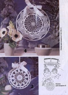 "Photo from album ""Moje robotki on Yandex. Crochet Dreamcatcher Pattern, Dream Catcher Patterns, Doily Art, Blue Dream Catcher, Crochet Christmas Decorations, Crochet Dollies, Crochet Snowflakes, Crochet Magazine, Handmade Home Decor"