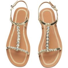 Strasssandalen 19,99 ($25) ❤ liked on Polyvore featuring shoes, sandals and women's shoes