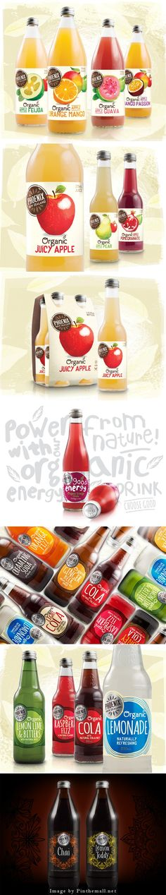 Phoenix Organic Drinks by Curious Design