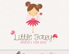 little girl logo premade logo design bespoke logo design
