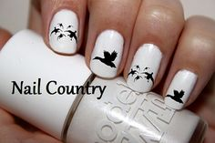 50pc Ducks Silhouette Duck Hunting Nail Decals Nail by NailCountry, $3.99