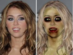Before and after. Hollywood doesn't stand a chance against a zombie invasion!