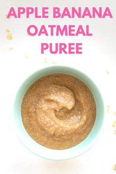 Easy breakfast recipe for babies 6 months old, 7 month old, 8 month old and older...Made simply with oats, apple and banana. 8 Month Old Baby Food, Baby Month By Month, Baby Breakfast, Breakfast Recipes, Baby Meal Plan, Baby Feeding Schedule, Healthy Baby Food, Baby Recipes, Cooked Apples