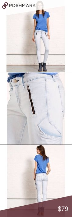 """Rag & Bone Rally Jeans Rag & Bone Rally Skinny Jeans. Color is called """"Bleached Out"""". Jeans have a intentional bleached look to them. These are 98% cotton, 2% polyurethane. Great stretch!!! Measurements are waist laying flat 14"""" across, Rise 8"""" inches, Inseam 30"""" inches. Great condition!!!💙 rag & bone Jeans Skinny"""