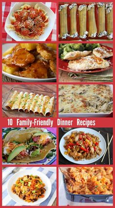 10 Family-Friendly Dinner Recipes - finally some recipes that your family will ask to you make again and again!