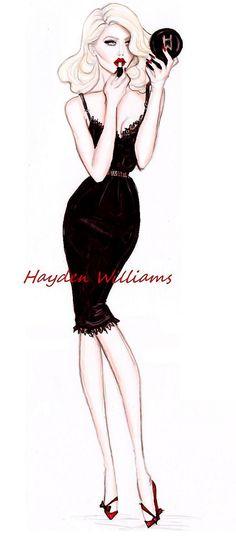 Hayden Williams Fashion Illustrations: 'Boudoir Glamorous' by Hayden Williams