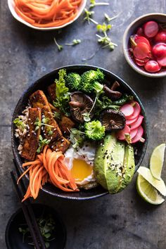 Superfood Bibimbap with Crispy Tofu   halfbakedharvest.com #vegan #healthy #korean #bowl #recipes