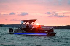 get a great view of the sunset on one of our luxury avalon pontoons. Make your reservation for a sunset cruise today!  www.newportpontoons.com