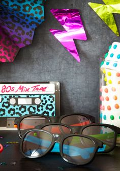 Birthday party ideas: 80s themed. 80's themed birthday party ideas