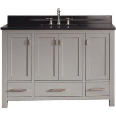 Avanity Modero Chilled Grey Vanity Combo - Overstock Shopping - Great Deals on Bathroom Vanities