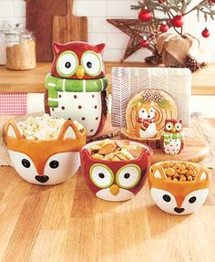 Owl and Winter Fox Tabletop Collection Pinned by www.myowlbarn.com