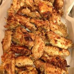 Garlic and Parmesan Chicken Wings- I like the recipe but would def sub skinless boneless breast meat for the wings