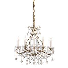 Currey & Company Paramour Five Light Chandelier On SALE