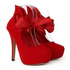 New Arrival Ribbon and Sexy High Heel Design Pumps For Women, RED, 40 in Pumps | DressLily.com