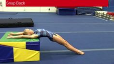 Snap Back Drill To create a long straight backhandspring the snap back into it must be tight and quick. Using a raised surface such as the folding incline wi. Gymnastics At Home, Gymnastics Lessons, Preschool Gymnastics, Gymnastics Moves, Gymnastics Tricks, Tumbling Gymnastics, Gymnastics Coaching, Gymnastics Training, Gymnastics Academy